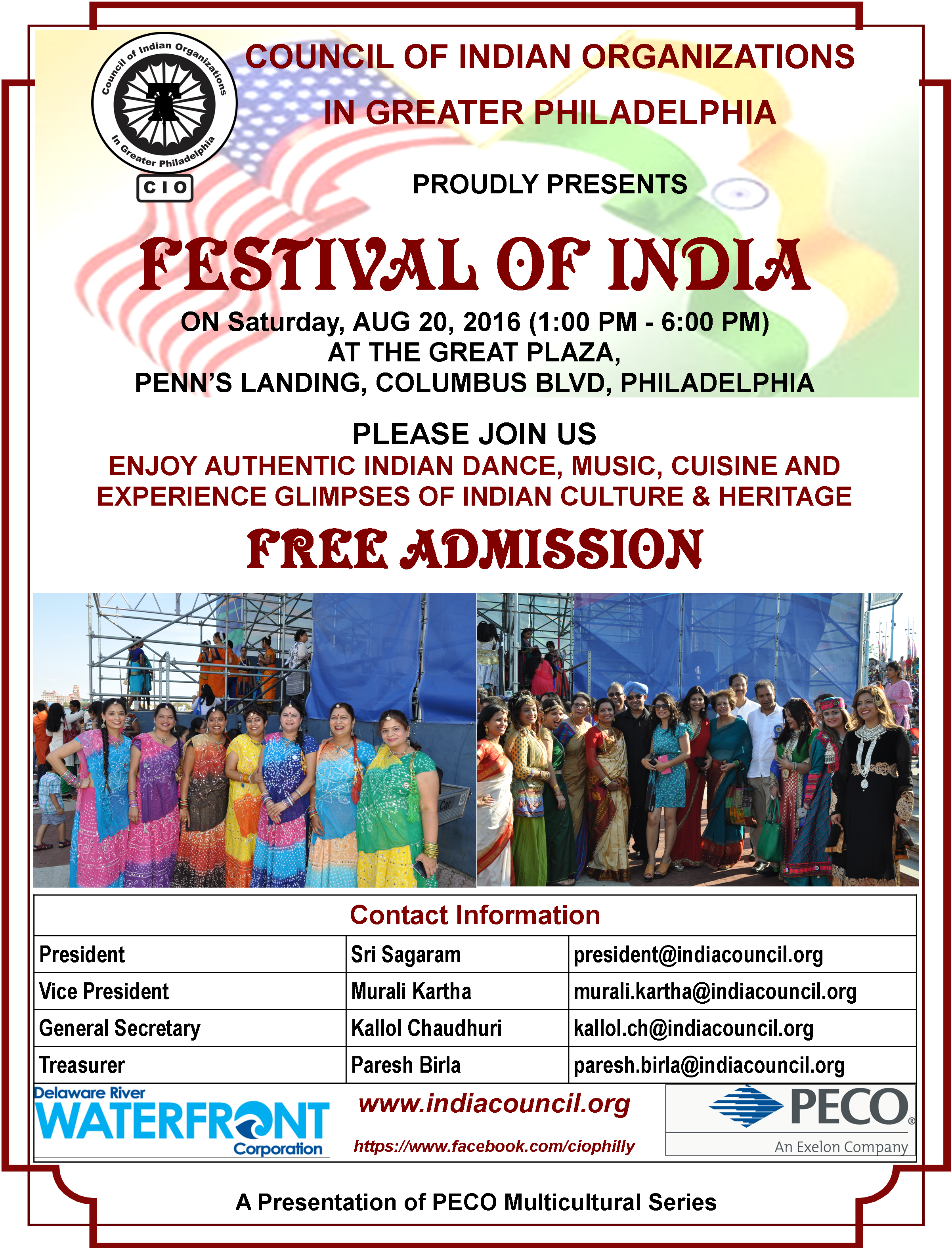 Festival of India 2016 Flyer